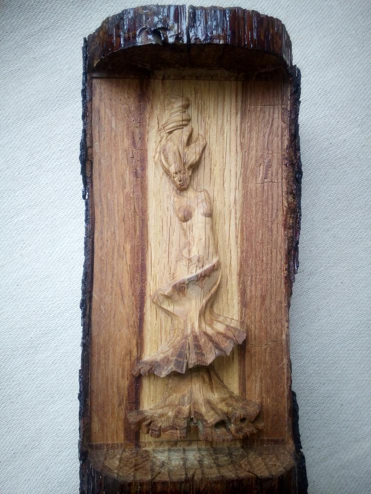 Skulptur, Erleichterung,Frau, Akt in holz, Exklusives Geschenk