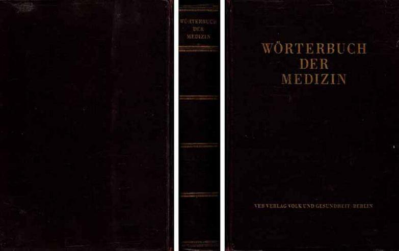 Buch von Maxim Zetkin und Herbert Schaldach - Wörterbuch der Medizin - 1956