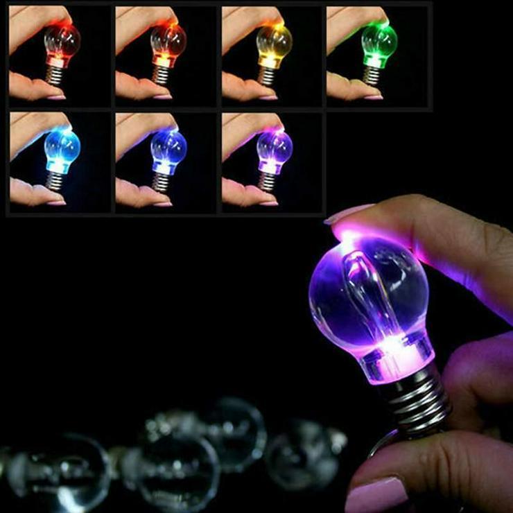 Schlüsselanhänger Glühbirne LED mit 7 Farben *NEU*