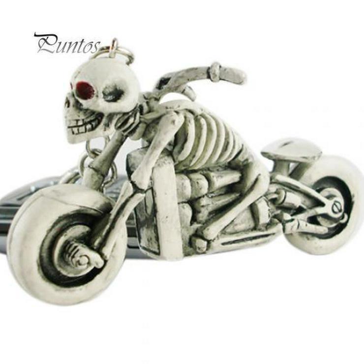 Schlüsselanhänger Motorrat in Knochengerüst Design *NEU*