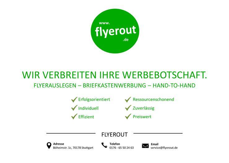 Bild 2: Flyerauslegen in Stuttgart - Die Flyerauslage
