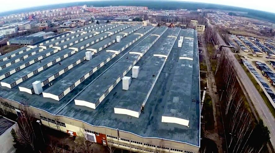Bild 2: Gewerbe-, Industrie- und Lagerflächen an der südöstlichen Grenze Lettlands mit Belarus, Litauen und Russland