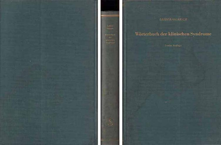 Wörterbuch der klinischen Syndrome von Prof. Dr. med. Leiber & Dr. med Olbrich