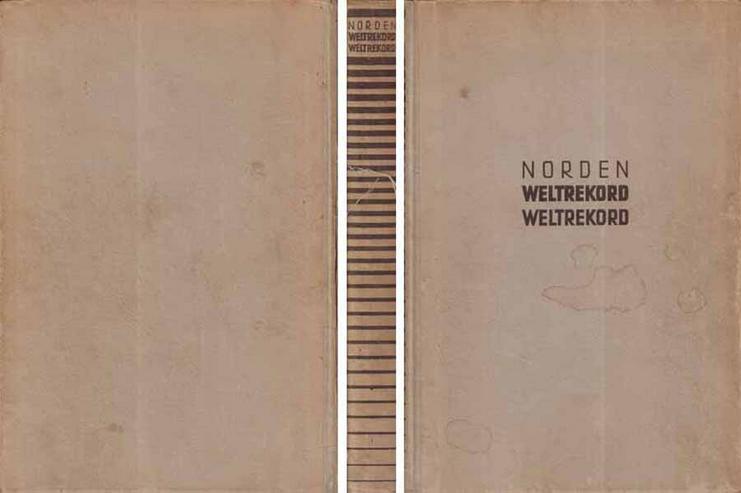 Buch von Adalbert Norden - Weltrekord Weltrekord - 1940 - Weitere - Bild 1