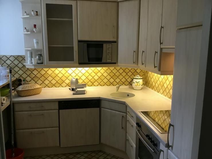Nolte-Küche in L-Form, gebraucht: (Farbe: stein-weiß mit ...