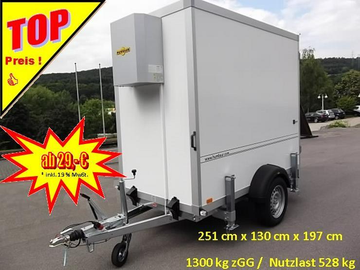 Anhängerverleih Kühlkoffer 1300 kg  Anhängervermietung ab