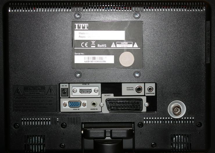 Bild 4: ITT LED Fernseher 19-5000 47 cm Wie neu!