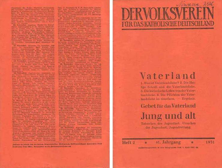 Der Volksverein für das katholische Deutschland - Heft 2 - 41. Jahrgang 1931