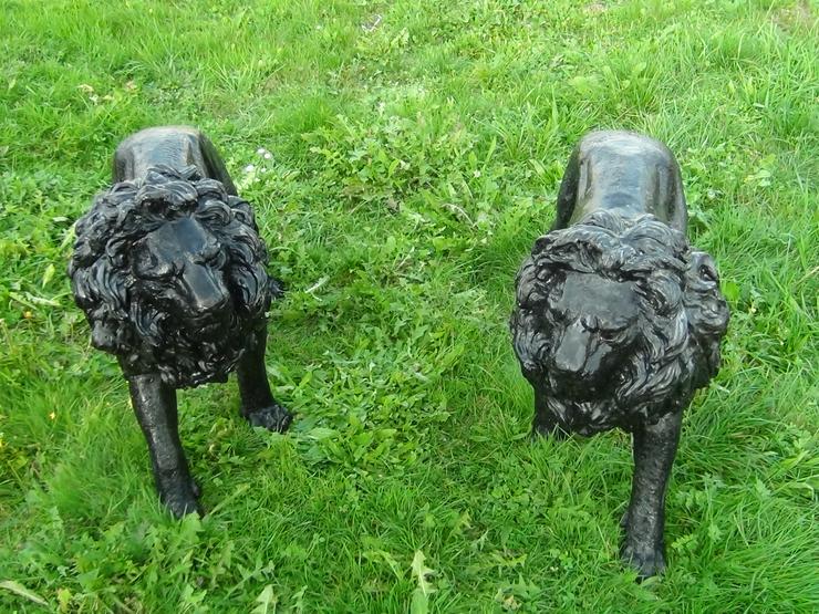 2 Bronzelöwen für ein herrschaftliches Anwesen - Figuren - Bild 1
