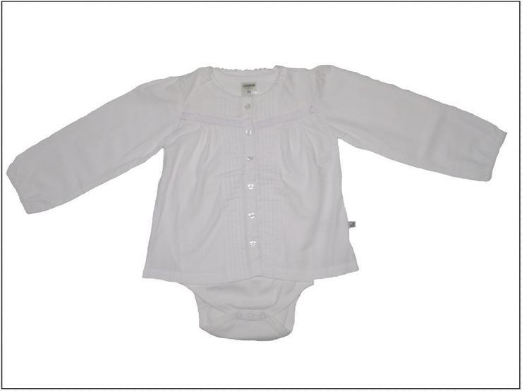 Weiß Body Bluse , Baby , Jacky , Gr. 56 , 68 , 74 , 80 , 86 . 100% Baumwolle