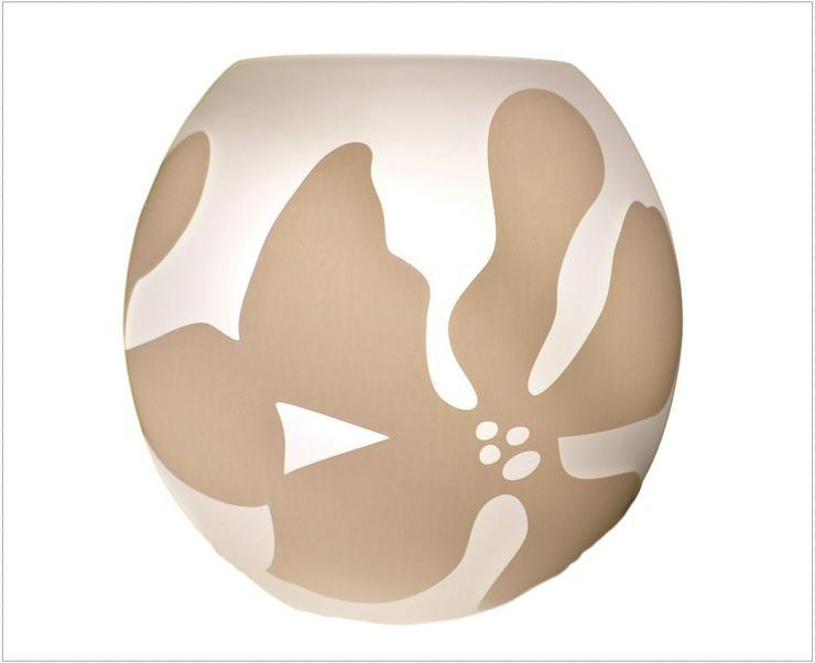 Tischleuchte Honsel Vela 52481 Glas weiß mit Dekor ø 15 cm