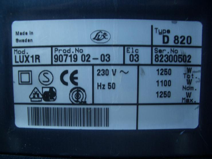 Bild 6: Lux Royal Staubsauger D820 + Motorbürste ZE3.1 Type 263PB1 + 24 Staubbeutel + sehr viele Filter!