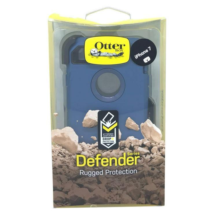 OtterBox Defender Rugged Belt-clip Etui für iPhone 7 blau,Neu,OVP