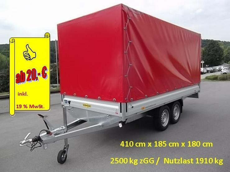 Anhängerverleih 4 Meter Anhänger Hochplane Anhängervermietung ab - Vermietung & Verleih - Bild 1