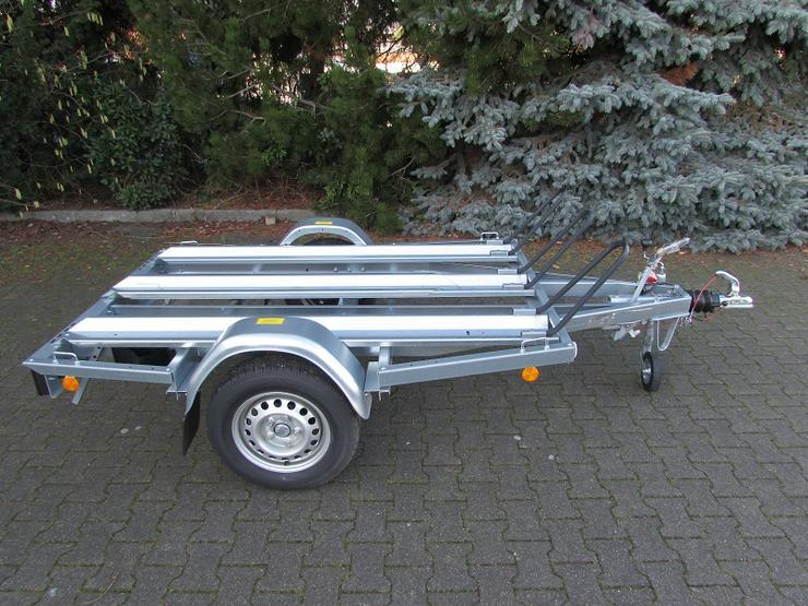 BÖCKMANN – TPV  gebremster Motorradanhänger 1000 kg NEU