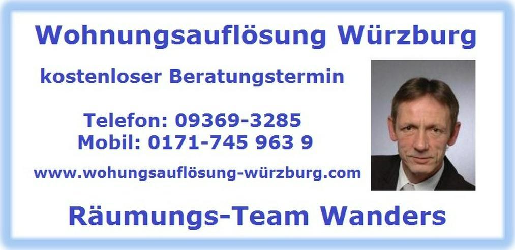 Wohnungsauflösung Würzburg Haushaltsauflösung Räumung Entrümpelung - Sonstige Dienstleistungen - Bild 1