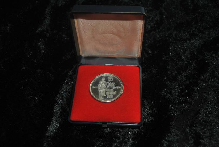 Silbermedaille-Berlin-1848-1973-125 J. / Schutzmannschaft-925er Silber-26,3 g