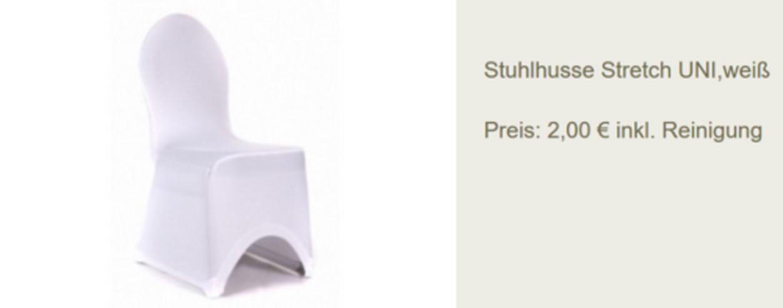 Vermietung Stuhlhussen Stretch - Party, Events & Messen - Bild 1
