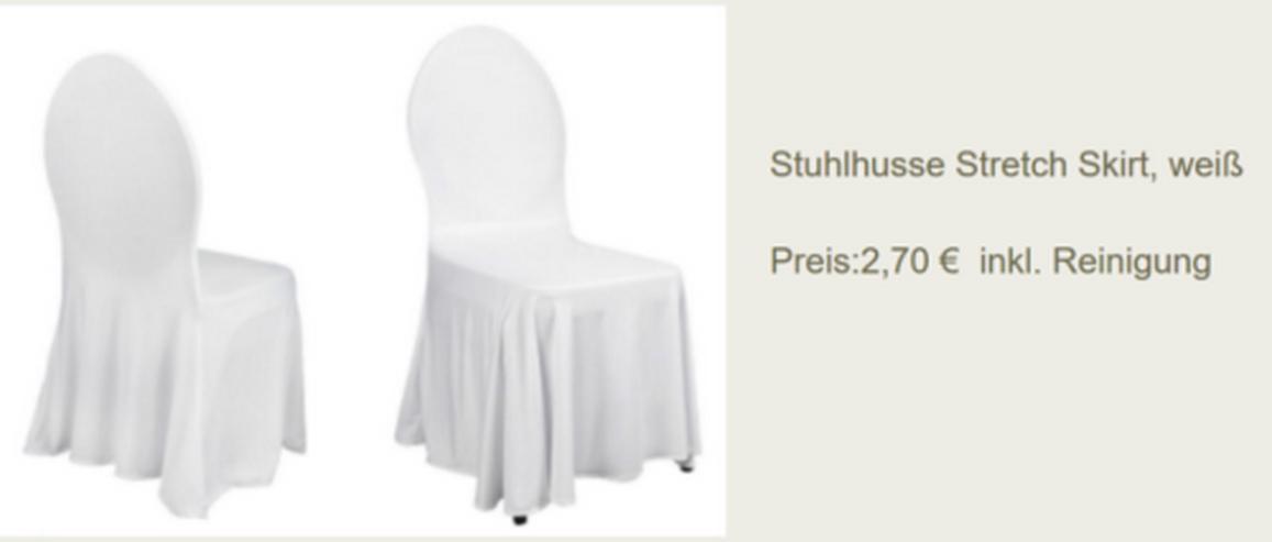 Vermietung Stuhlhusse Skirt