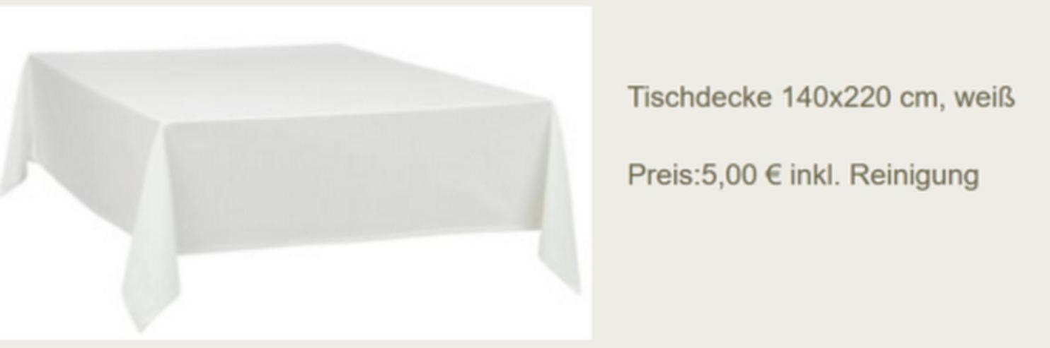 Vermietung Tischdecken 140x220 - Party, Events & Messen - Bild 1