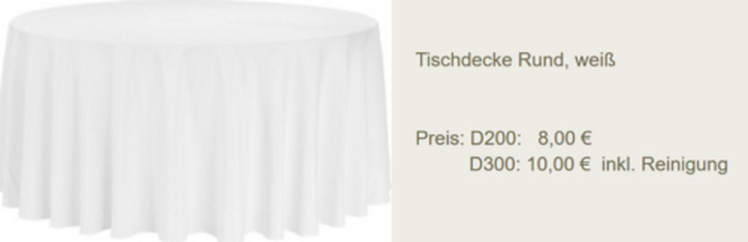 Vermietung Tischdecke Rund 3m