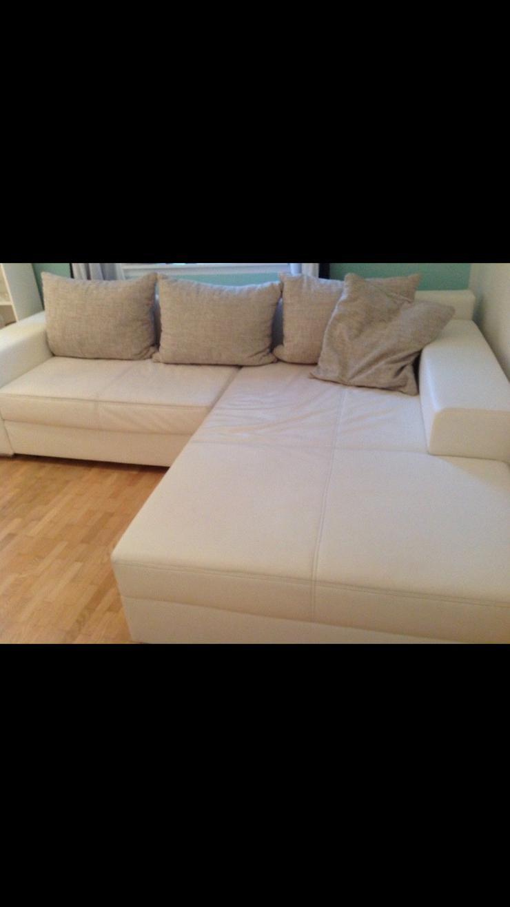 Sofa weiß, Bettfunktion, L-Form
