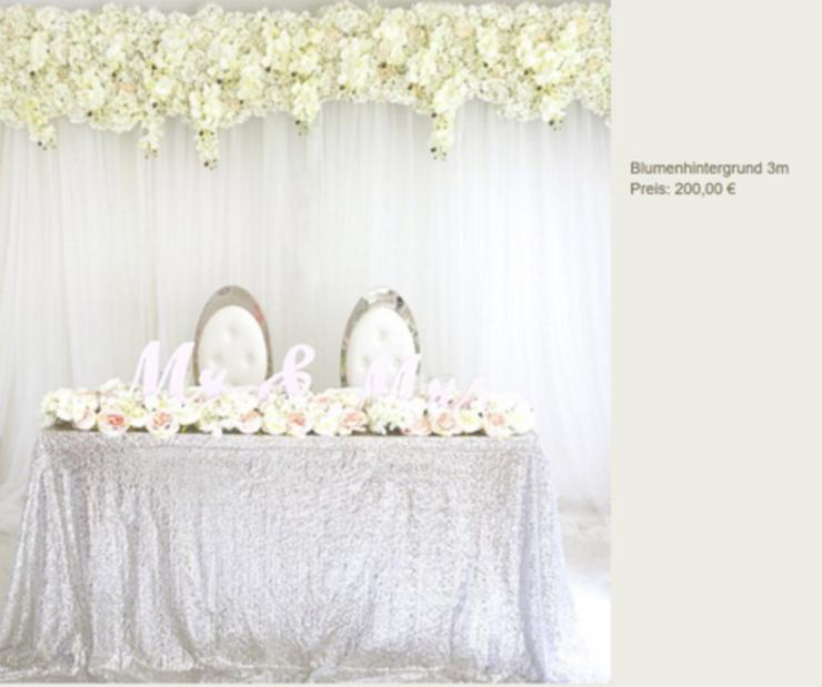Vermietung Blumenwand Hochzeit