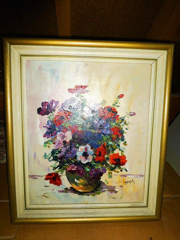 """Gemälde """"Blumen"""" von H.Hiensch"""