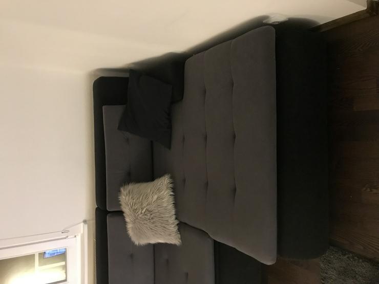 Ecksofa Couch Schwarz Anthrazit 240 cm