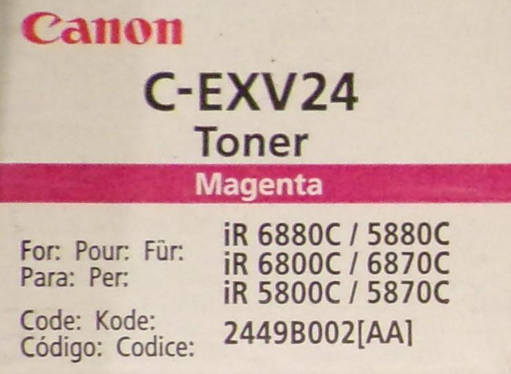 Original Canon C-EXV24 Toner 2449B002 , magenta