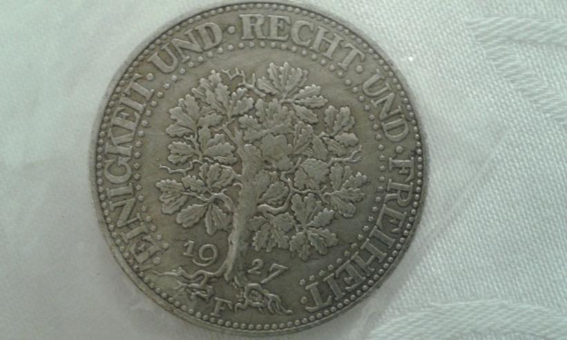 Reichsmark 5  Eichbaum - 1927