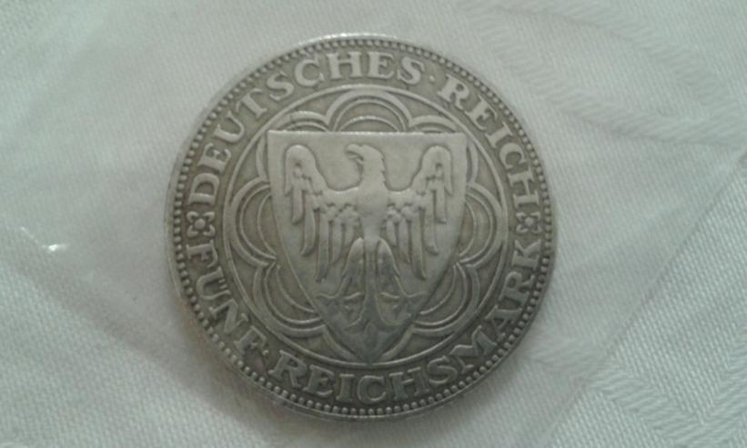 Weimarer Republik 5 Reichsmark - Bremerhafen - - Deutsche Mark - Bild 1