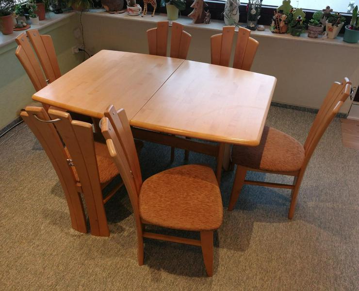 Ess-/Wohnzimmertisch mit 6 Stühlen / nur an Selbstabholer