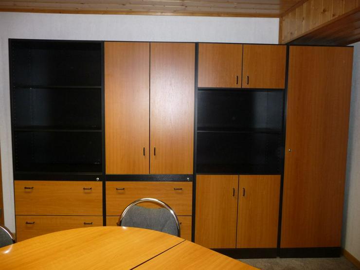 Schreibtischkombination und Schränke Fa. PALMBERG - kompl. Büro