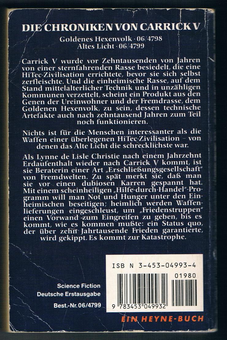 Bild 2: Goldenes Hexenvolk und Altes Licht. 2 Fantasy-Romane von Mary Gentle.