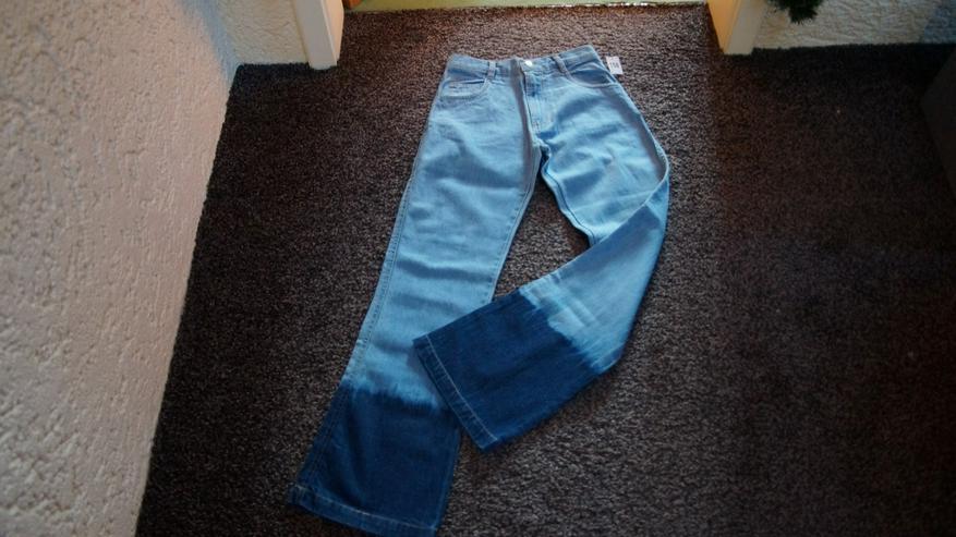 Jeanshose, Gr. 158, Schlaghose, blau