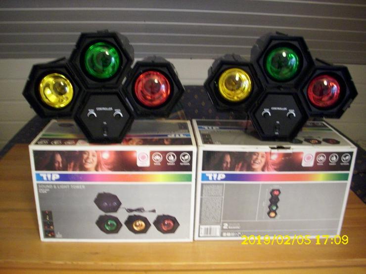TIP 3767 Sound & Licht Tower 3 x 40 W E 27 Lichtorgel Disco Party Lichteffekt DJ