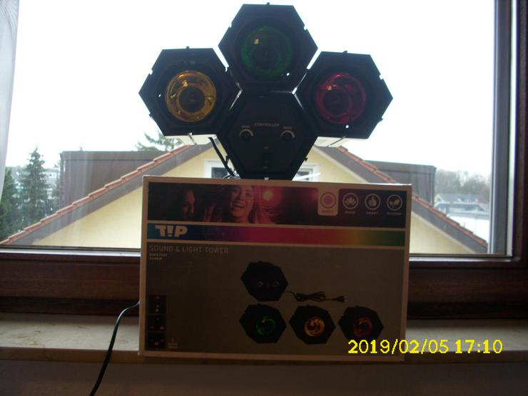 Bild 2:  TIP 3767 Sound & Licht Tower 3 x 40 W E 27 Lichtorgel Disco Party Lichteffekt DJ