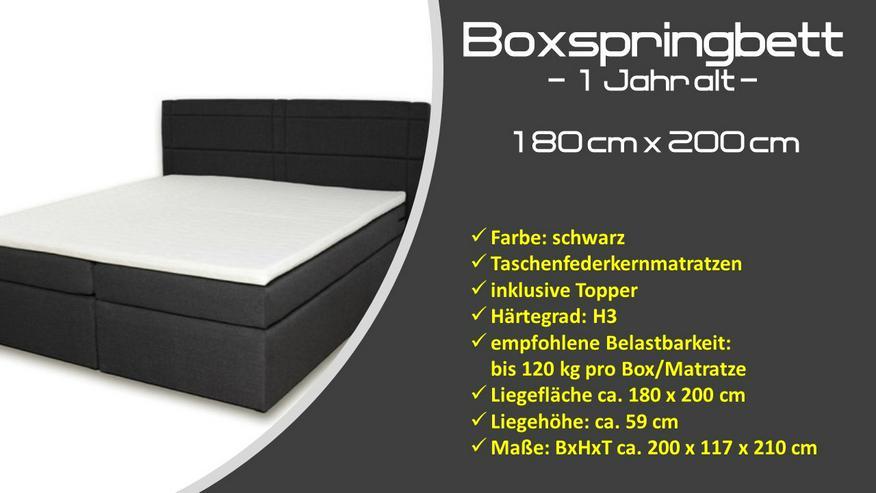 Boxspringbett - 1 Jahr alt - 180 x 200 cm