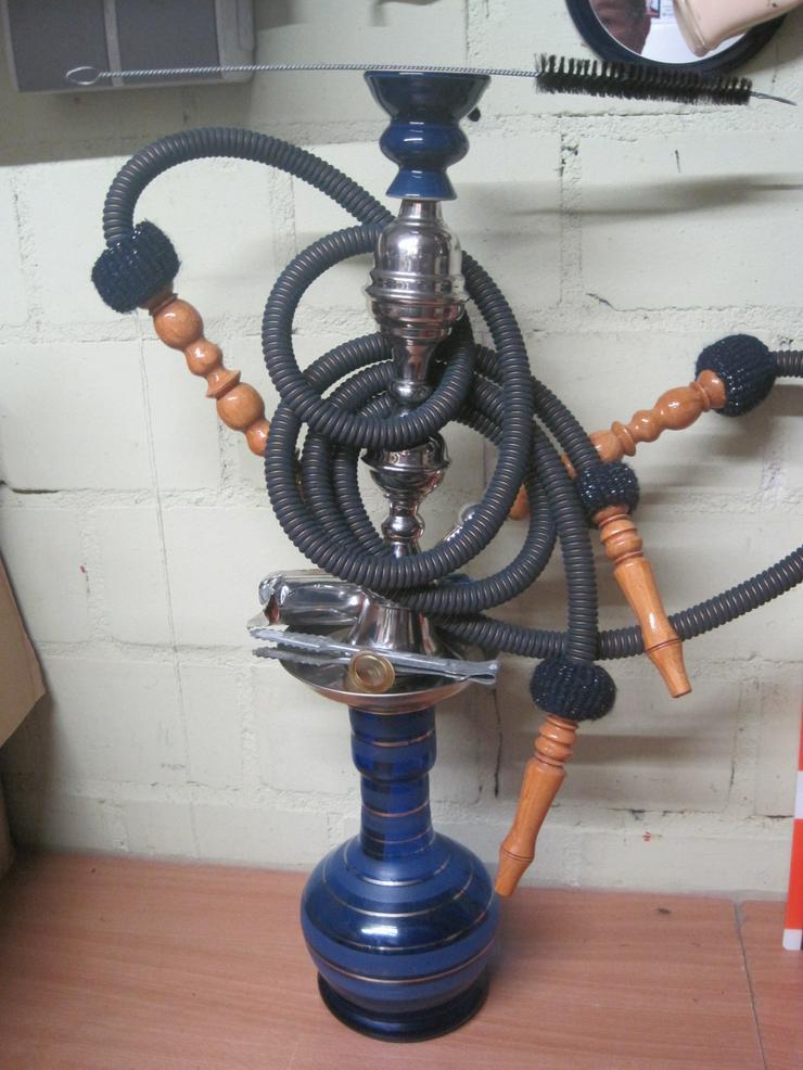 Shisha blaue Shisha Wasserpfeife 2 Mundstücke