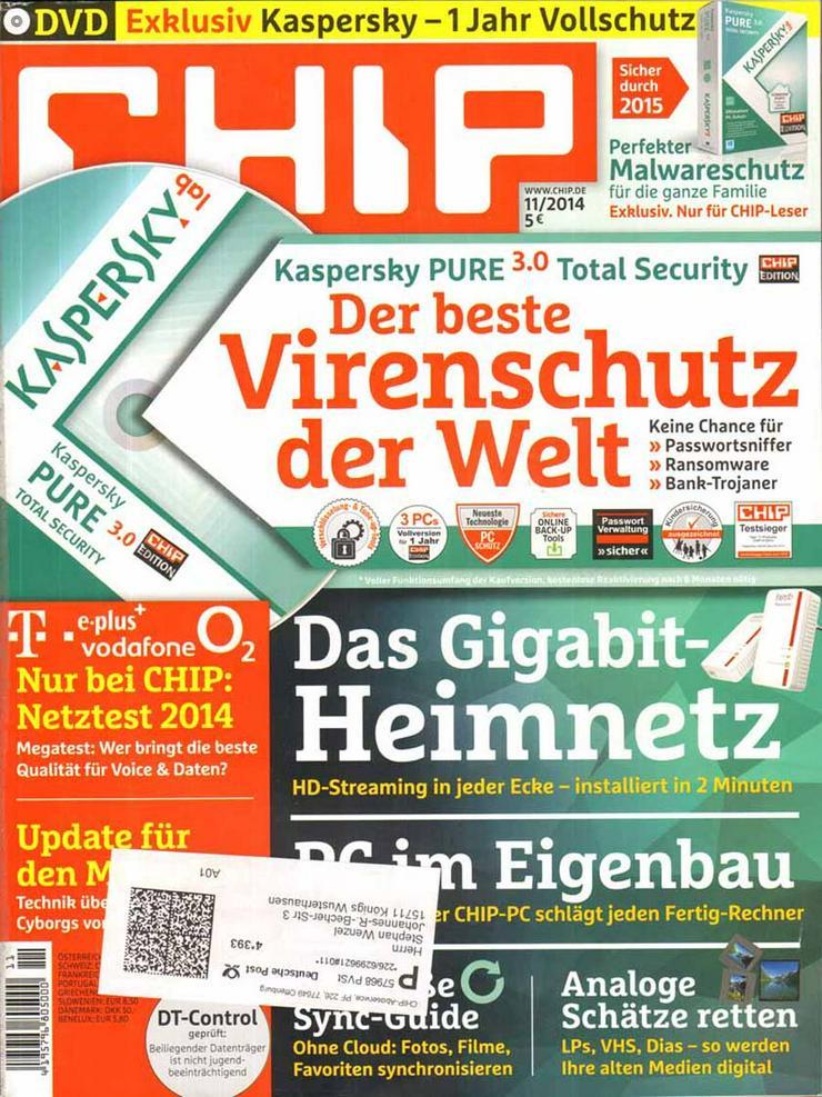 Computerzeitschrift CHIP 11/2014 mit Original-DVD