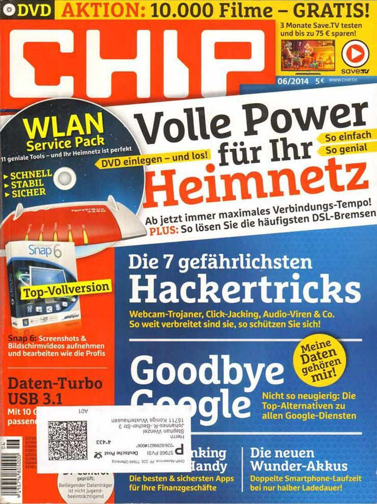 Computerzeitschrift CHIP 06/2014 mit Original-DVD