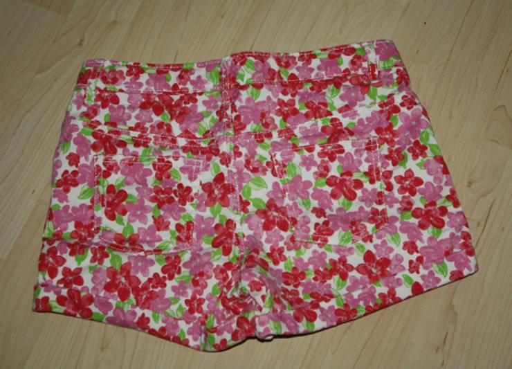 Bild 2: Kurze Mädchen Hose Kinder Bermuda Shorts kurz Hotpants Blumen 152