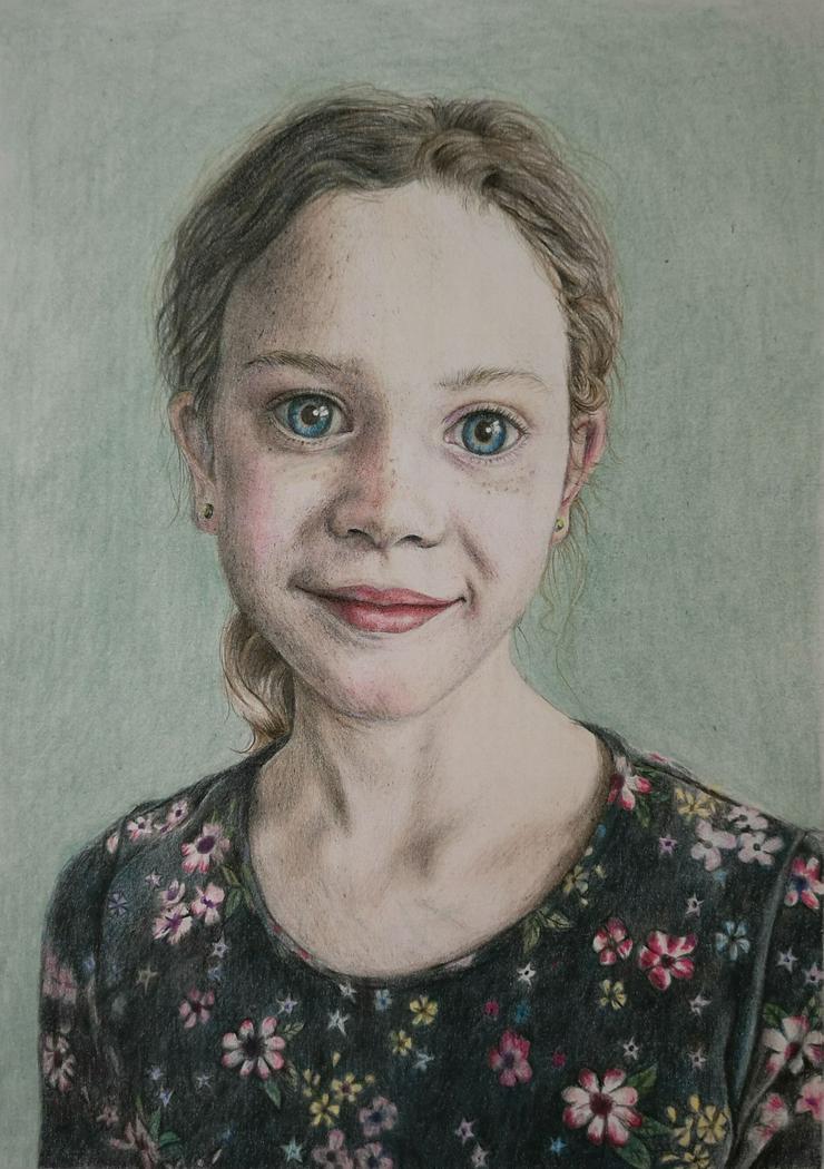 Bild 2: Portraitzeichnung / Portrait nach Fotovorlage