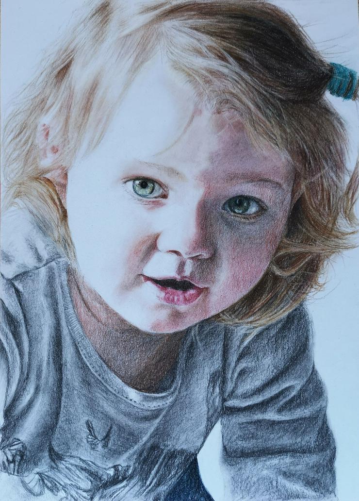 Bild 5: Portraitzeichnung / Portrait nach Fotovorlage