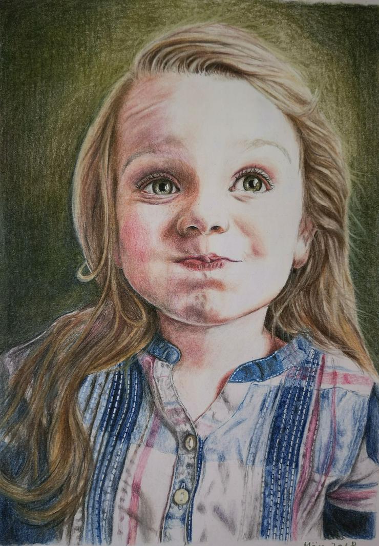 Bild 6: Portraitzeichnung / Portrait nach Fotovorlage