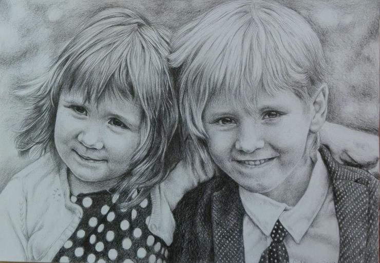 Portraitzeichnung / Portrait nach Fotovorlage - Gemälde & Zeichnungen - Bild 1