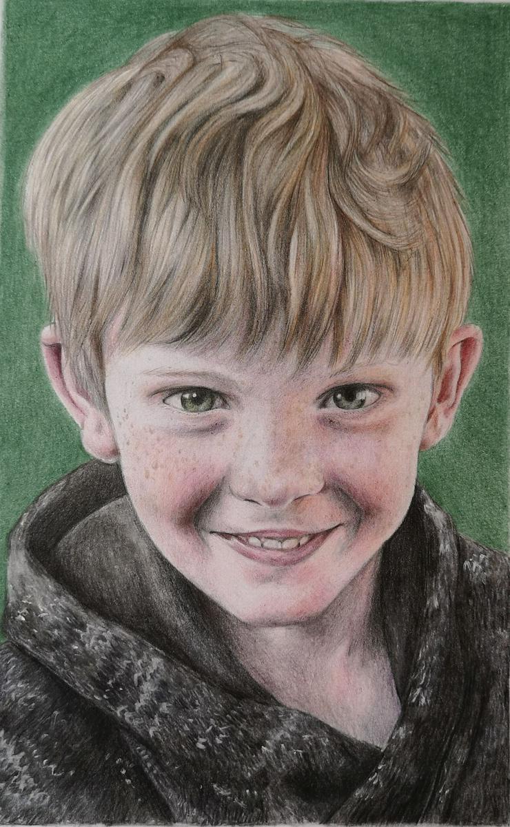 Bild 3: Portraitzeichnung / Portrait nach Fotovorlage