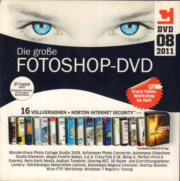 Bild 2: Computerzeitschrift CHIP 08/2011 mit Original-DVD