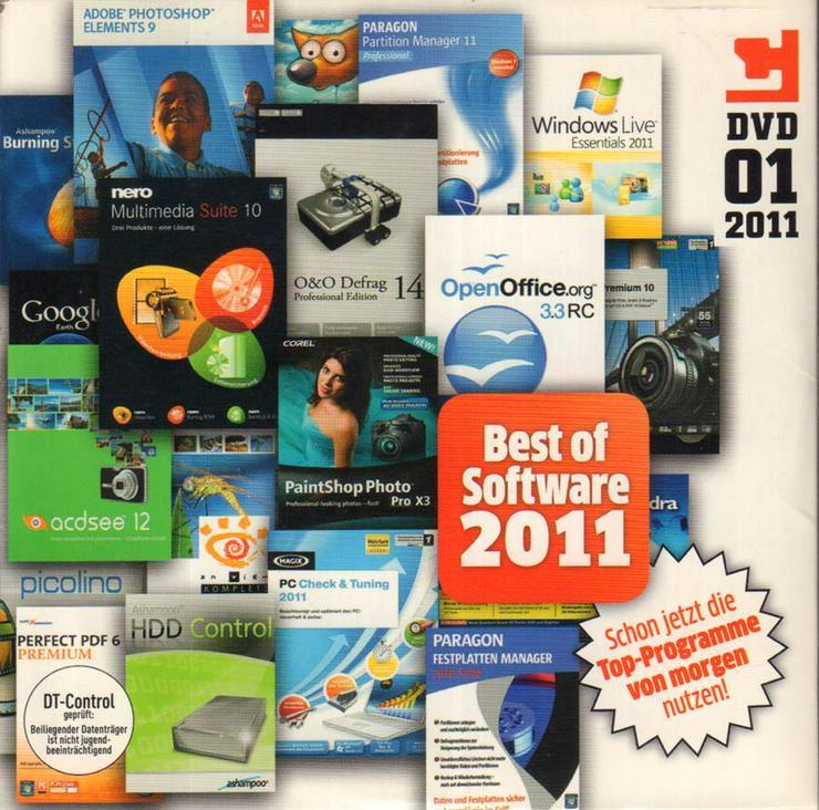 Bild 2: Computerzeitschrift CHIP 01/2011 mit Original-DVD